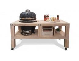 "Broil King Faszenes grill - Kamado Chef grill asztal 19""-os kamado grillhez - tölgy vintage white"