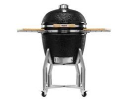 """Broil King Kerámia grill - Kamado Chef 2200 Prestige Diamond Black (rozsdamentes acél) 22""""-os"""