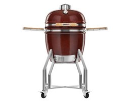 "Broil King Kerámia grill - Kamado Chef 1900 Prestige Red Smooth (rozsdamentes acél) 19""-os"