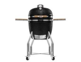 """Broil King Kerámia grill - Kamado Chef 1900 Prestige Diamond Black (rozsdamentes acél)19""""-os"""