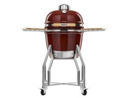"Broil King Kerámia grill - Kamado Chef 1600 Prestige Red Smooth (rozsadmentes acél) 16""-os"