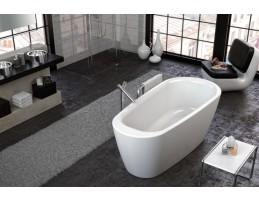 Kolpa San - ADONIS - FS/O matt fehér 180x80 térbe állítható fürdőkád lefolyóval