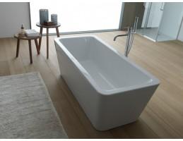 Kolpa San -EROICA - FS/O matt fehér 180x80  térbe állítható fürdőkád lefolyóval