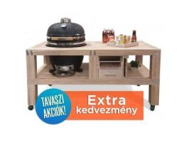 """Broil King Kerámia grill - KAMADO CHEF 19"""" KERÁMIA GRILL csomag (grill+egyedi készítésű asztal)"""
