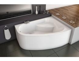 Kolpa San - Chad-L 170x120 beépíthető aszimmetrikus fürdőkád
