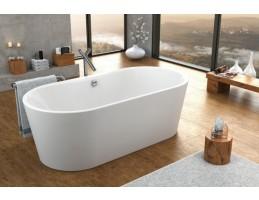 Kolpa San - COMODO - FS/O matt fehér  térbe állítható fürdőkád lefolyóval