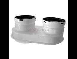 BAXI PPs indítóidom szétválasztott elvezetéshez d60/100-80/80mm (elfordítható)