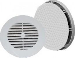 AIR-TONIC G60-SZ-T+AT-K125 termosztatikus légbeeresztő, K-125 ráccsal