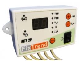 FixTrend MTS2P digitális termosztát, szivattyú véd. HMV előnykapcsolás, 2sziv.hoz
