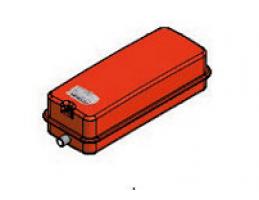 """GITRAL VPC-N-7-5 lapos szögletes fűtési tágulási tartály 7.5l, 3/4"""", 3bar, 90°C"""