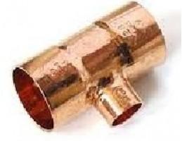 VIEGA 95130 Forrasztható szűkített T-idom 64-42-64mm vörösréz