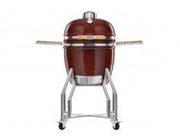 Broil King Kerámia grill - Kamado Chef 1900 Prestige Red Smooth (rozsdamentes acél)