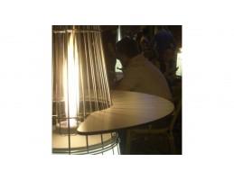 Teraszfűtés - Tavolino kerek könyöklő és kávézóasztal Dolve Vita teraszfűtéshez