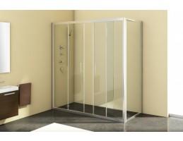 Kolpa San - Q - LINE TV/4D/S 160 Silver kétrészes átlátszó zuhanyajtó