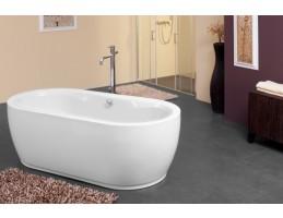 Kolpa San - SIRIS-FS 178X88/O+PRELIV BLACK/WH térbe állítható ovális fürdőkád
