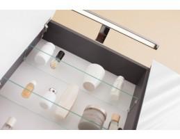 Kolpa San - IMAN TOI 80 Fehér tükrös szekrény üveg polcokkal, LED