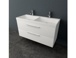 Kolpa San Jolie OUJ 120/2 Antracit/antracit szekrény dupla mosdóval