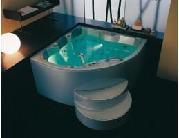 Kolpa San - Gaia 160 (fehér) beépíthető sarokkád Luxus +