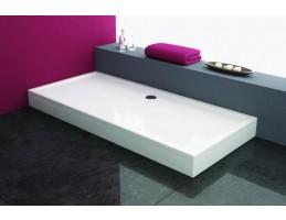 Kolpa San - Flamenco 160x80 beépíthető akril szögletes zuhanytálca