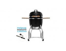 "Broil King Kerámia grill - Kamado Chef 1900 Prestige Diamond Black (rozsdamentes acél) Csomag akció 19""-os"
