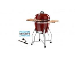 "Broil King Kerámia grill - Kamado Chef 1900 Prestige Red Smooth (rozsdamentes acél) Csomag akció! 19""-os"