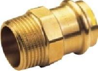 IBP PG4243G réz press külső menetes átmeneti idom, gázra, 54mm-6/4